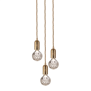 Lee Broom Crystal Bulb Pendel 3 Stk Transparent/Messing