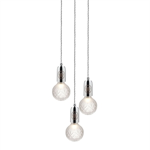 Lee Broom Crystal Bulb Pendel 3 Stk Mattiert/Chrom