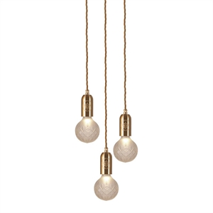 Lee Broom Crystal Bulb Pendel 3 Stk Mattiert/Messing