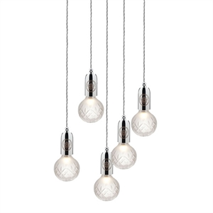 Lee Broom Crystal Bulb Pendel 5 Stk Mattiert/Chrom