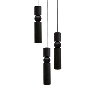 Lee Broom Fulcrum Pendel 3 Stk Matt Schwarz