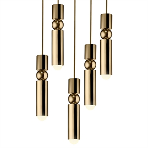Lee Broom Fulcrum Pendel 5 Stk Gold