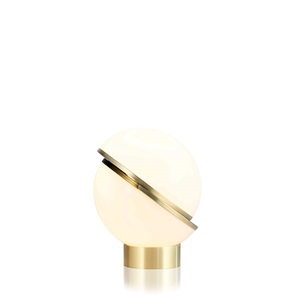 Lee Broom Mini Crescent Tischlampe Opal/Messing