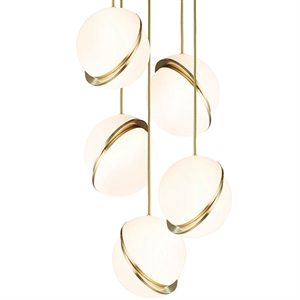 Lee Broom Mini Crescent Pendel 5 Stk Opal/Messing